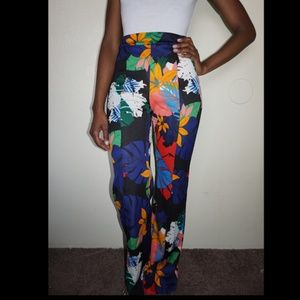 Fashion Nova Pants - Fashion Nova Tropical Print Pants NWT